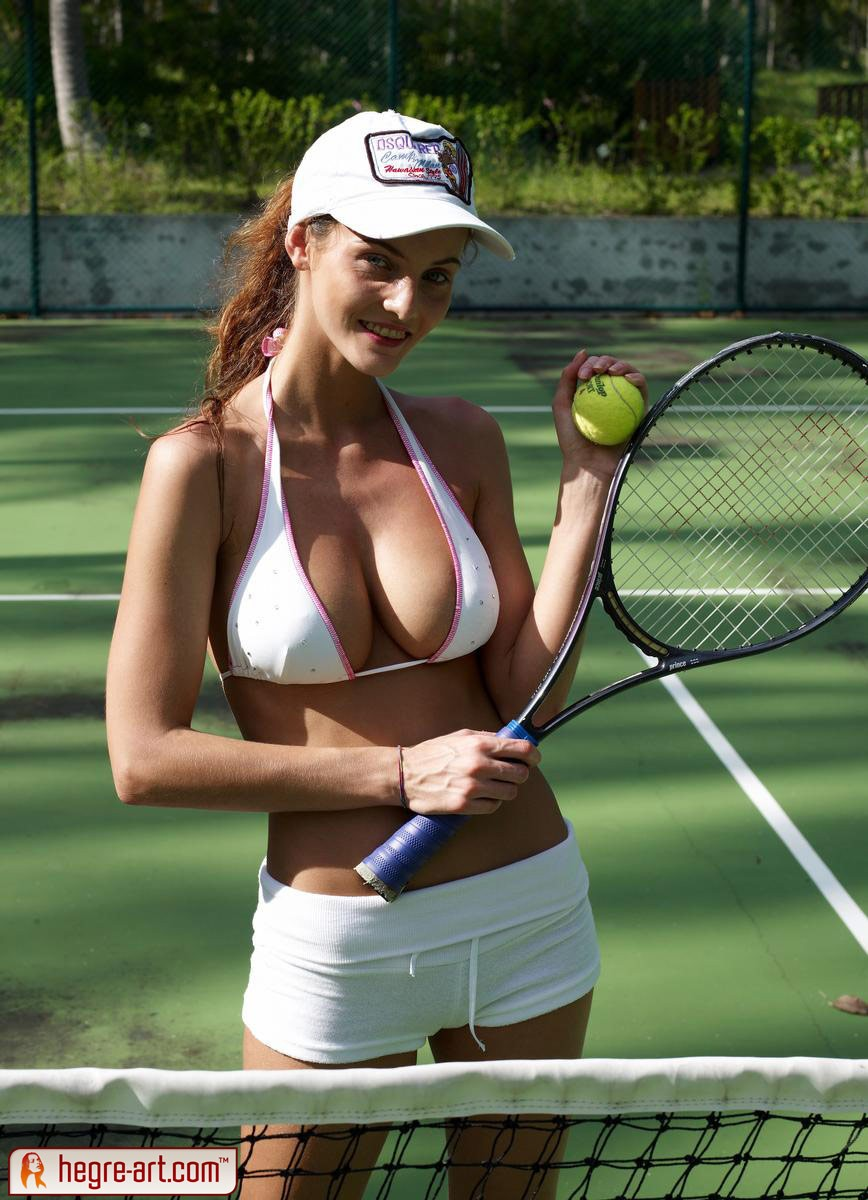 Topless tennis