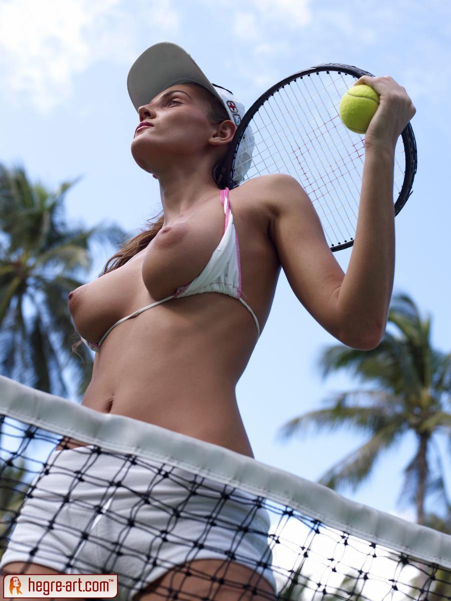 Nude men in tennis